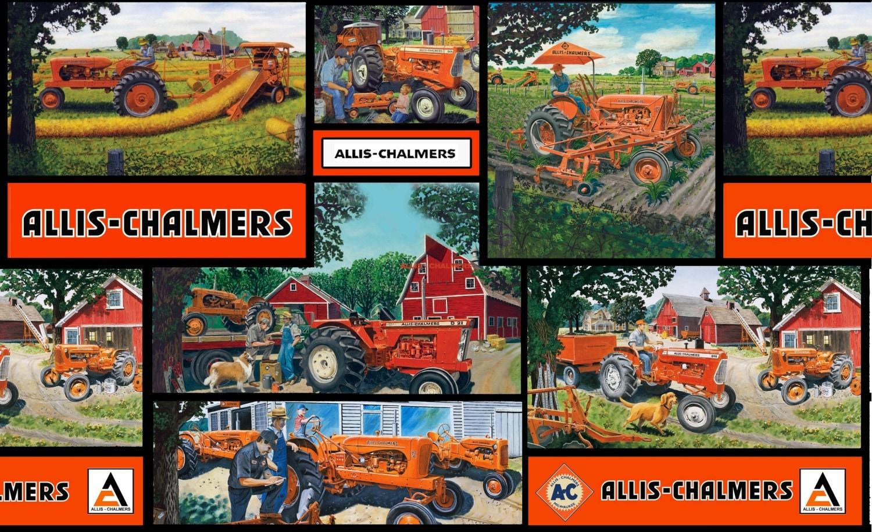 Allis Chalmers Lawn Mower Zeppy Io Model 2690813 Wiring Diagram Tractor Fabric Block Print