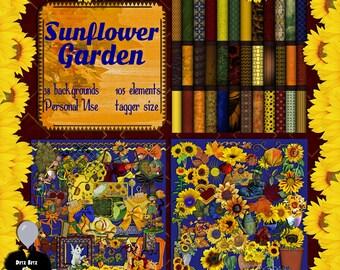 Sunflower Garden Digital Scrapbook Kit