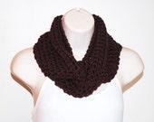 cherry cola crochet infinity scarf- discontinued yarn