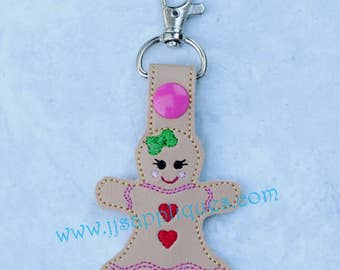 Embroidery Machine Digital Heart Key Ring Designs
