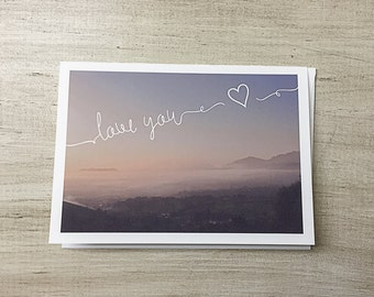 Greeting Card | Love You | Love | Blank Inside | Valentines Day | Long Distance | Anniversary