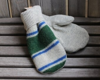 sweater mittens, wool mittens, felted wool mittens, recycled sweater mittens, upcycled sweater, mittens