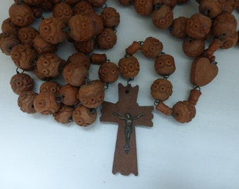 Large Lourdes Antique Rosary, Chaplet, 6 Decade. French Circa 1920's
