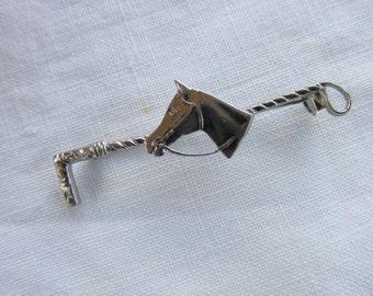 Stock Pin - Brooch - Horse Head Bar Pin - Vintage