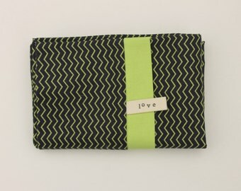 Navy Chevron Pillowcase SINGLE ONLY Lime Green Zig Zag Modern Bedding Cotton Africa Adoption Fundraiser
