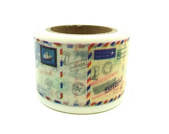 DIY Removable Adhesive Masking Deco Washi Tape - Airmail Envelope (3 cm Width)