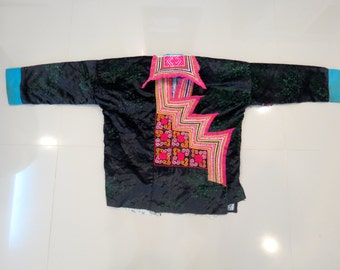 Vintage Hmong shirt  Handmade Fabric, handmade tapestry and textiles, hill tribal fabrics