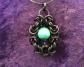 Custom Byzantine framed floating crystal pendant for Kylie Williams