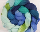 Rambouillet / Tussah ( 75/25) hand painted top -Naiad  ( 4.8 oz. )