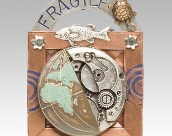 Fragile Earth Pin