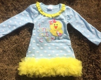 I'm One Cute Chick Easter Girl Dress L, 4