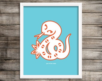 Year of the Snake Modern Home Decor Wall Art  8X10 ~ Digital Download.