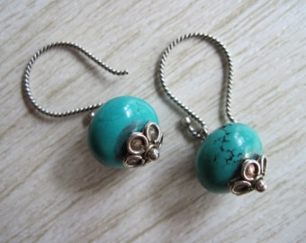 Turquoise Magnesite Earrings