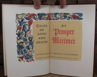 Tales of Love and Death by Prosper Merimee - Illustrated by Arthur Zaidenberg HC First Ed in Slipcase 1948