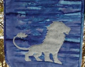 Lion Banner, Wall hanging, Coat of Arms, Quilted Lion Banner
