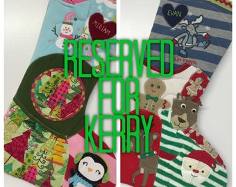 Memory Stockings ~ Reserved for Kerry