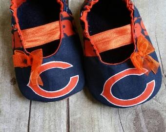 Chicago Bears Baby Maryjane Booties