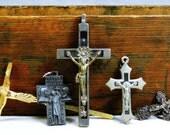 Vintage Religious Lot 5 Crucifix, Crosses