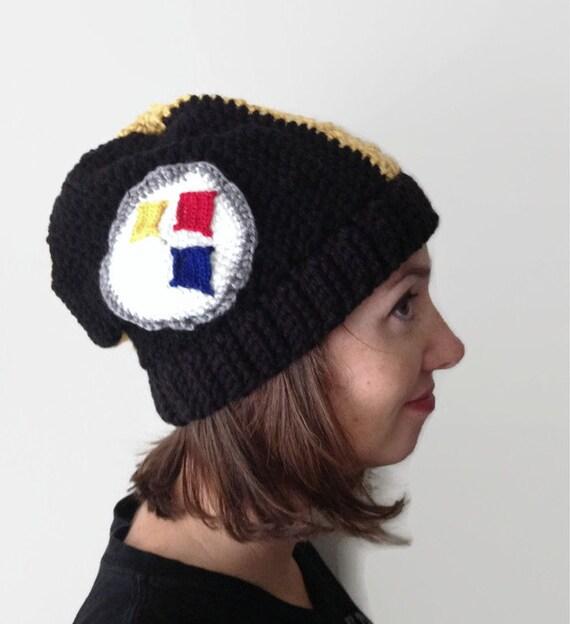 Steelers Hat Pittsburgh Steelers Helmet Style Slouchy Beanie