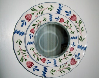 Vintage Plate Mirror Nikko Japan China Avondale Plate Hanging Mirror