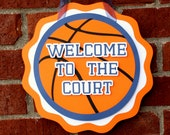 Basketball Party Door Sign . Basketball Birthday Party Decorations . Basketball Hang Sign . Sports Party Decor . Baby Shower Decor