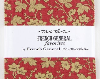 FRENCH GENERAL FAVORITES Charm Pack by French General for Moda Quilt Fabrics.