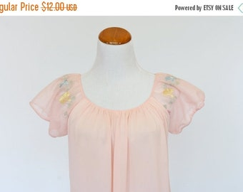 25%OFF SALE 80's Vintage Nightgown, Peach Pink Nightgown, Ladies Sleepwear