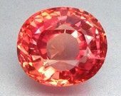 9.36 ct. Lab Created Simulated Red Pink Orange Padparadscha Sapphire