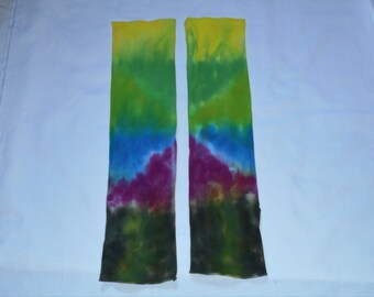 Arm Warmers, Cotton, Hand Dyed,OOAK