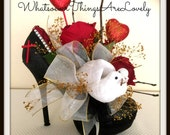 Floral Arrangement Dried Flowers and Roses Valentine Gift for the Bride Bridal Shower Centerpiece