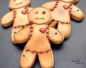 Voodoo Doll Cookies, Hoodoo Cookies, Halloween Cookies, Spooky, Night of the Dead, Halloween Party, Voodoo Favors, Pin Cushion Doll Cookie