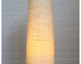 Vintage 60s 70s Style Hessian Conical Lampshade Fat Lava