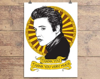 Elvis Presley - Thank You - Greeting Card