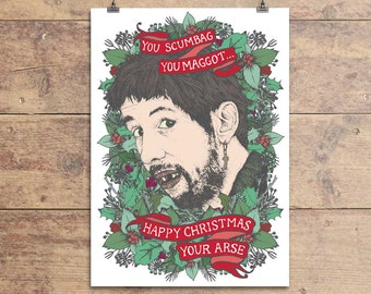 Fairytale Of New York - Shane MacGowan - The Pogues - Christmas Song - Christmas Greeting Card