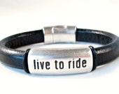 Licorice leather bracelet unisex