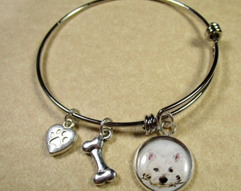 Westie Bracelet, West Highland White Terrier Jewelry, Westie Jewelry, Westie Gifts, Westie Expand It, Westie Mom Gifts, Westie Lover Gifts