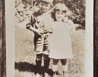 Original Antique Photograph Big Brother