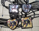 Umbreon - BREAKpoint Promo and All Night Party - Glass Pendant Charm made from Trading Cards