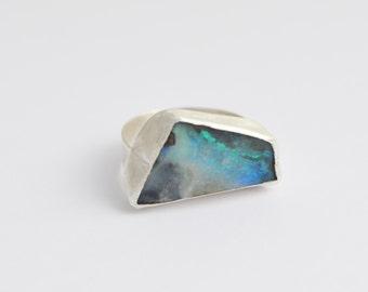 Opal ring/ boulder opal ring/ silver ring