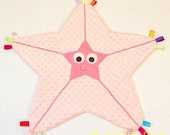 Starfish Lovey Tag Baby Blanket Sensory Security Toy