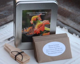 Children's Garden Seed Kit, Garden Seed Collection, Kids Garden Kit With Metal Box, Educational Gift, DIY Garden Kit
