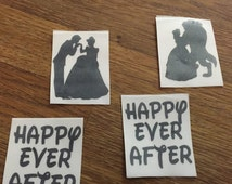 Happy every after DISNEY SHOES wedding shoes. Wedding shoes decals transfers