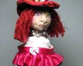 Valentine Witch Doll Bust Pedestal Stand Table Decoration Shelf Decor