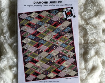 Diamond Jubilee Quilt Sewing Pattern by Diana McClun and Laura Nownes UC FF Uncut Quilting