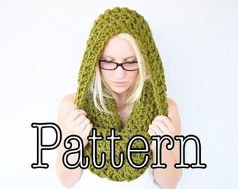 Crochet PATTERN, Oversized Crochet Cowl, Crocheted Hood, Crocheted Wrap, Chunky Oversized Cowl || The Bailee