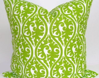 GREEN Pillow Sale, 16x16 inch Green Pillow Cover, Decorative Pillow, Green Throw Pillow,Floral Pillow,Green Pillow Cover. Green Cushion