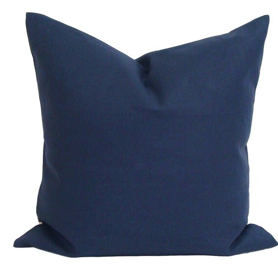SOLID BLUE PILLOW.22x22 inch Decorative Pillow Cover.Home