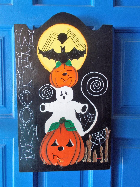 Halloween Welcome Sign, Halloween Door Hanger, Halloween