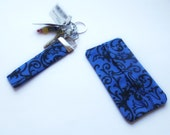 Small Gifts for Women - Female Accessories -  Blue Key Holder - Blue Key Chain - Blue Tissue Case - Travel Tissue Case - Blue Tissue Holder