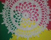 Reserved for Melanie Gibson  Samples Doily Rugs